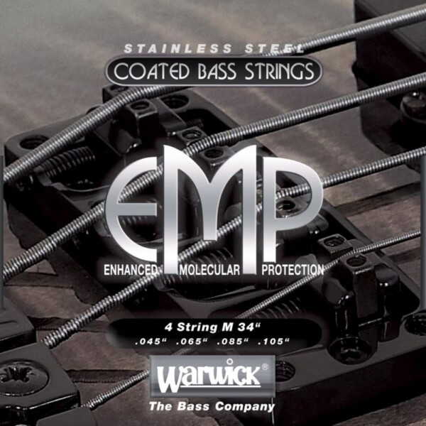 "Warwick EMP Coated Bass String, 4-String Set, Medium, 045""/105"", Long Scale"