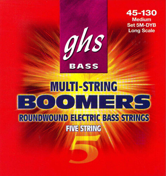"GHS Bass Boomers 5 String, Medium, 045""-130"""