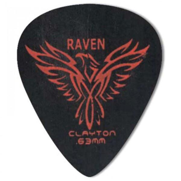 Clayton Black Raven Standard Pick, 0.63mm