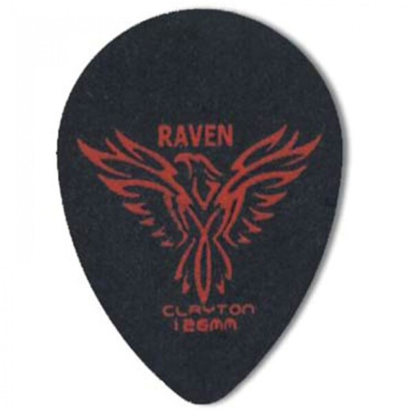 Clayton Black Raven Teardrop Pick, 1.26mm