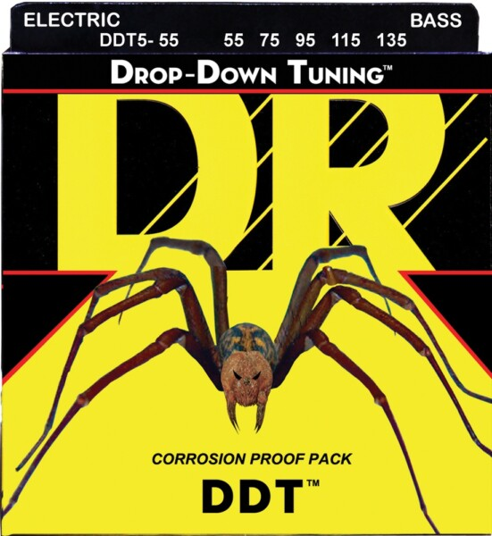 """DR Strings Drop Down Tuning Bass Heavier 4-String 055""""/115"""""""