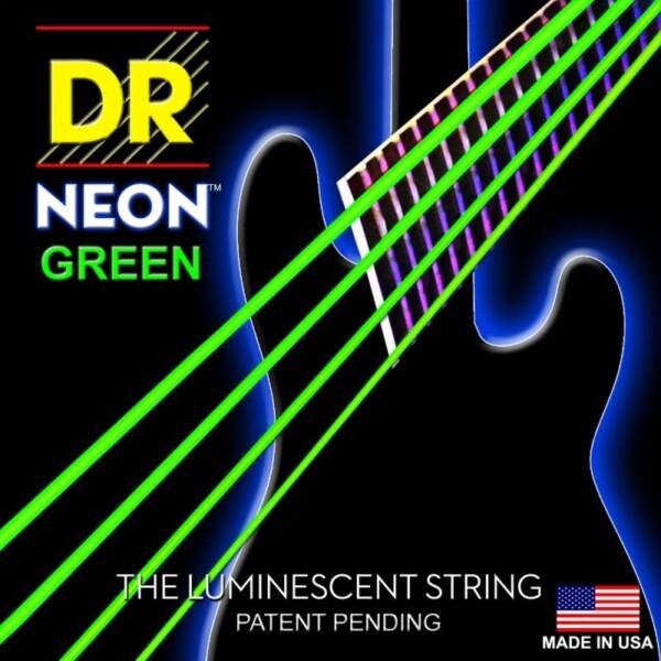 "DR Strings K3 Neon Green Bass Medium 045""/125"""
