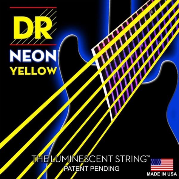 "DR Strings K3 Neon Yellow Electric Single String 056"""