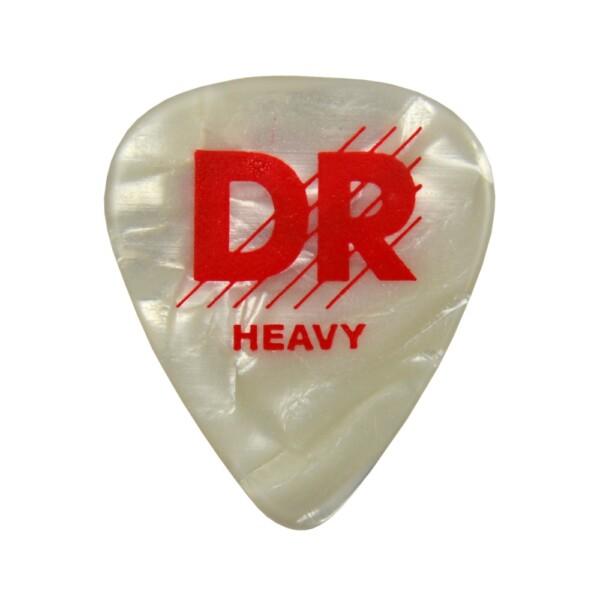 DR Strings White Perloid Pick Heavy 1.00mm