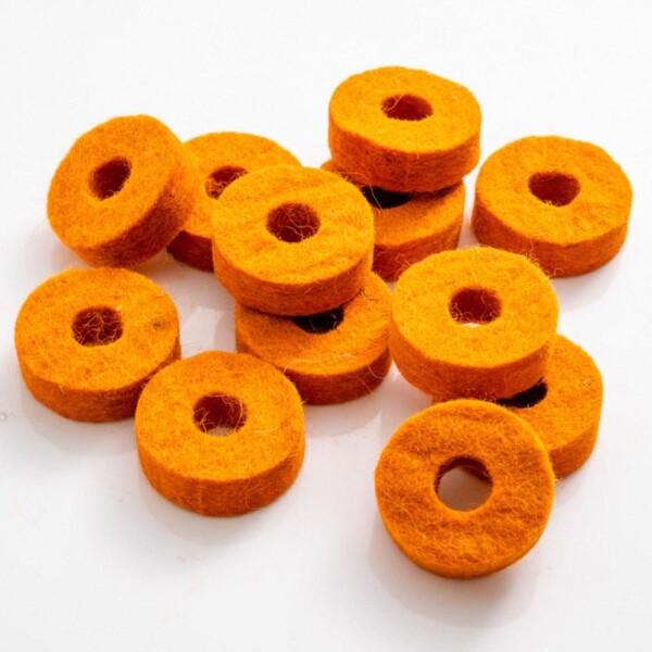 Dixon Felt Washer For Cymbal Stand, 35x12x10mm, Orange, 4 pcs