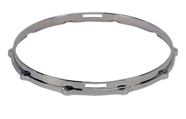 """Dixon 14"""" Die Cast Snare Hoop, 10 Ears, Snare Side, Chrome Plated"""
