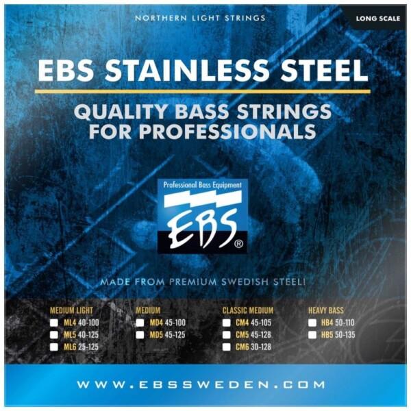 EBS Strings Stainless Steel Bass Strings 50-135