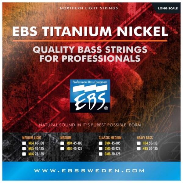 EBS Strings Titanium Nickel 4 Set 50-110