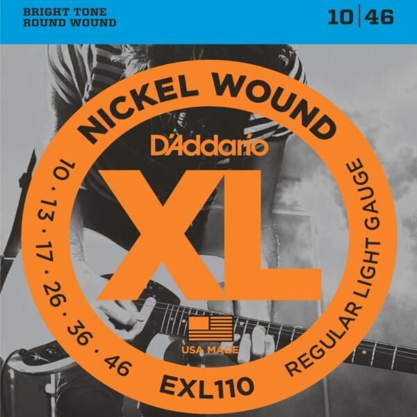 "D'Addario EXL110 Electric Guitar Strings 010""/046"""