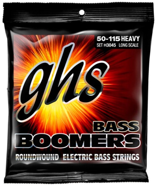 """GHS Bass Boomers 4 String, Long Scale, Heavy, 050""""-115"""""""