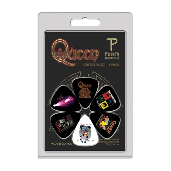 Perri's LP-QN2 6 Pick Pack Queen