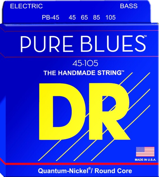 """DR Strings Pure Blues Bass 045""""/105"""" w/ Quantum Nickel Alloy"""