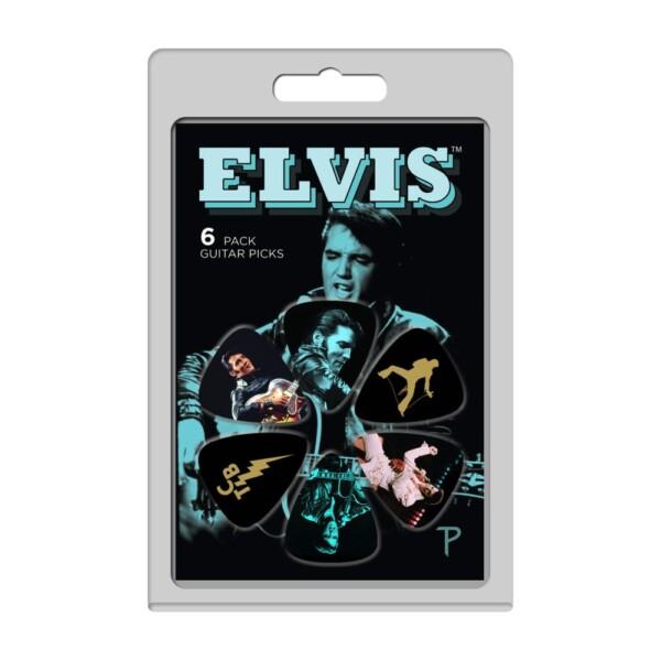 Perri's LP-EP4 6 Pack Of Elvis Presley Official Licensing Variety Pack Celluloid Guitar Picks
