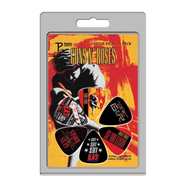 Perri's LP-GNR1 6 Pack Of Guns N' Roses Official Licensing Variety Pack Celluloid Guitar Picks