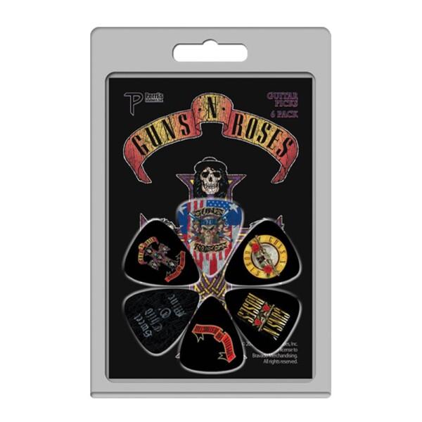 Perri's LP-GNR2 6 Pack Of Guns N' Roses Official Licensing Variety Pack Celluloid Guitar Picks