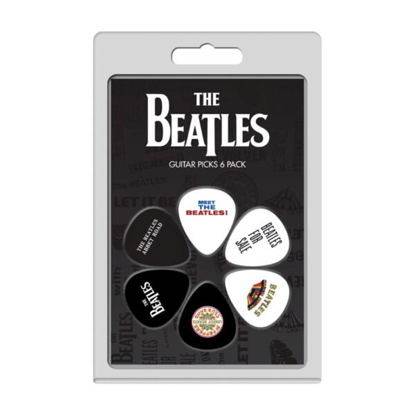 Perri's LP-TB16 Pack Of The Beatles Official Licensing Variety Pack Celluloid Guitar Picks