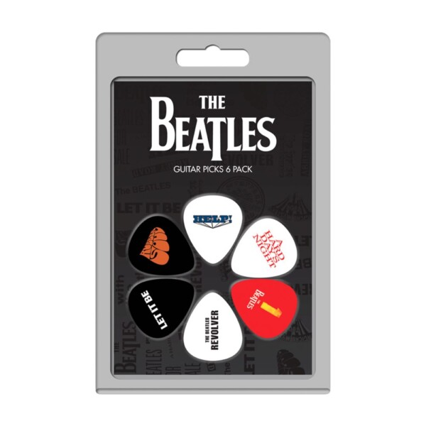 Perri's LP-TB2 6 Pack Of The Beatles Official Licensing Variety Pack Celluloid Guitar Picks