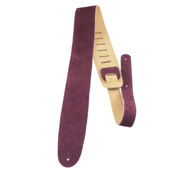 Perri's 2.5″ Burgandy Soft Suede Guitar Strap