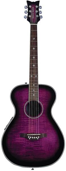 Daisy Rock Pixie Electro-Acoustic Guitar, Purple Burst