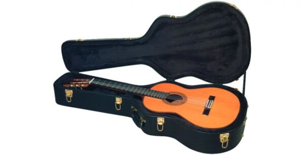 Rockcase Deluxe Classic Guitar, Curved Shape, Black Tolex Case