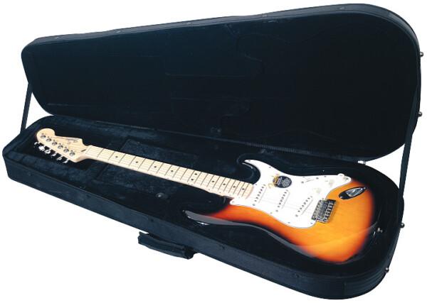 Rockcase Deluxe Strat-Style Guitar Soft Light Case, Black