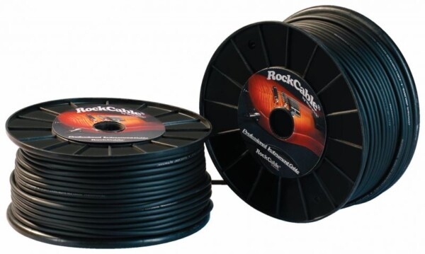 Rockcable Instrument Cable Roll AD 6mm, 1m, Black