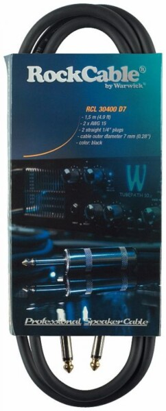 Rockcable Speaker Cable 1,5m Black