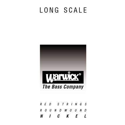 "Warwick Red String Single String 105"" Nickel Steel"