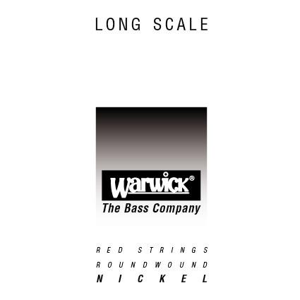 "Warwick Red String Single String 115"" Nickel Steel"