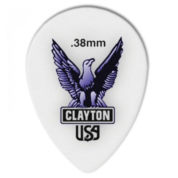 Clayton Acetal/Polymer Teardrop Pick, 0.38mm