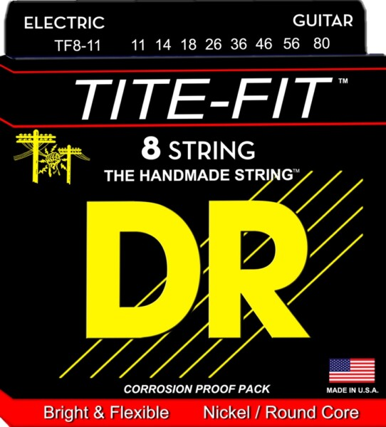 """DR Strings Tite Fit Heavy 8-String 011""""/080"""""""