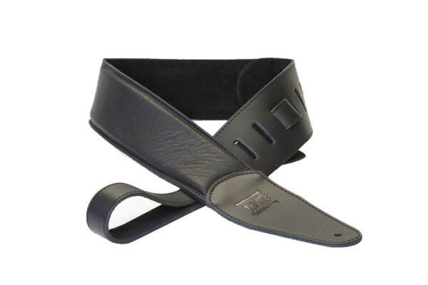DR Strings Premium Thick Padded Leather Strap Black