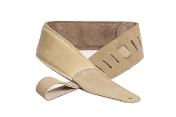 DR Strings Premium Thick Padded Leather Strap Tan
