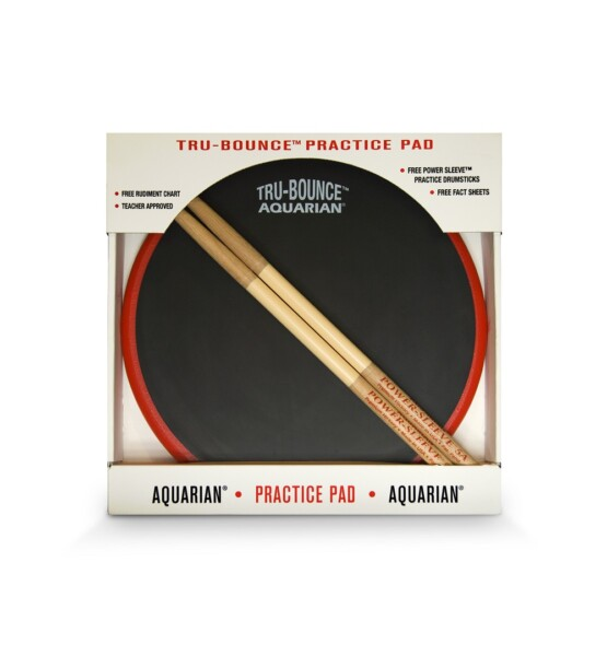 "Aquarian Tru-Bounce Practice Pad 12"" W/Sticks"