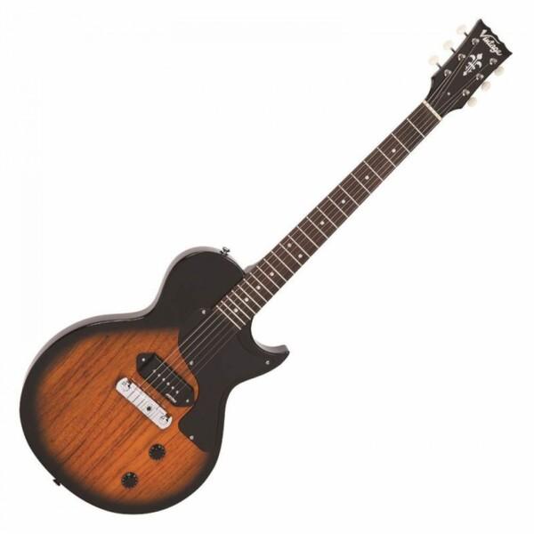 Vintage V120 ReIssued Electric Guitar, Two Tone Sunburst