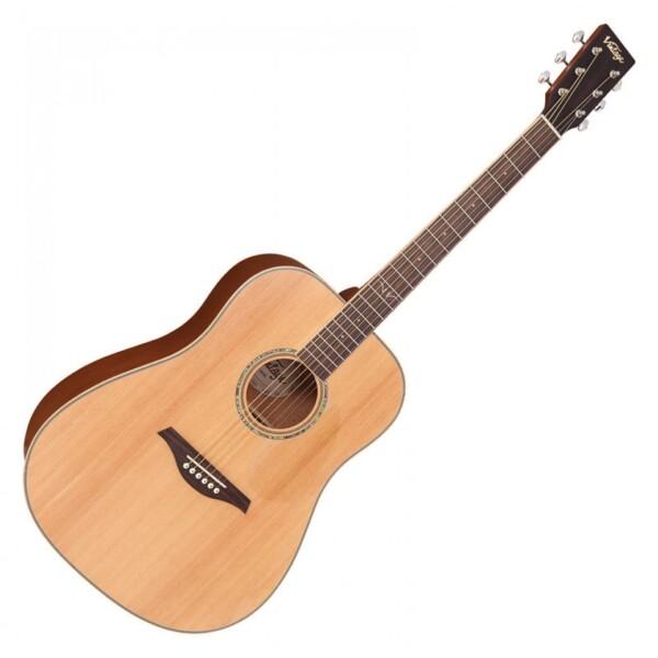 Vintage V501N Acoustic Guitar, Natural Satin