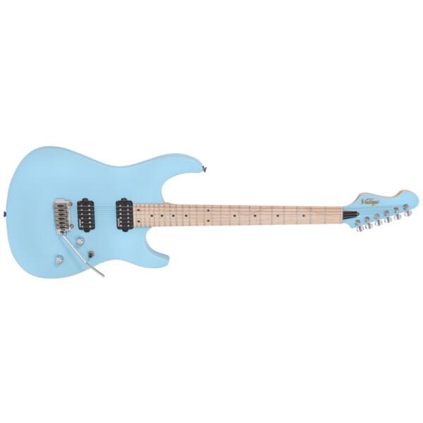 Vintage V6M24LB Rock Series Electric Guitar, Laguna Blue