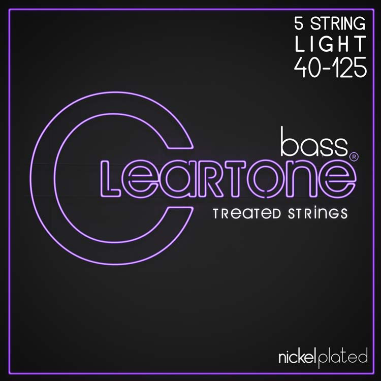 Cleartone Nickel-Plated Bass Strings, Light 40-125
