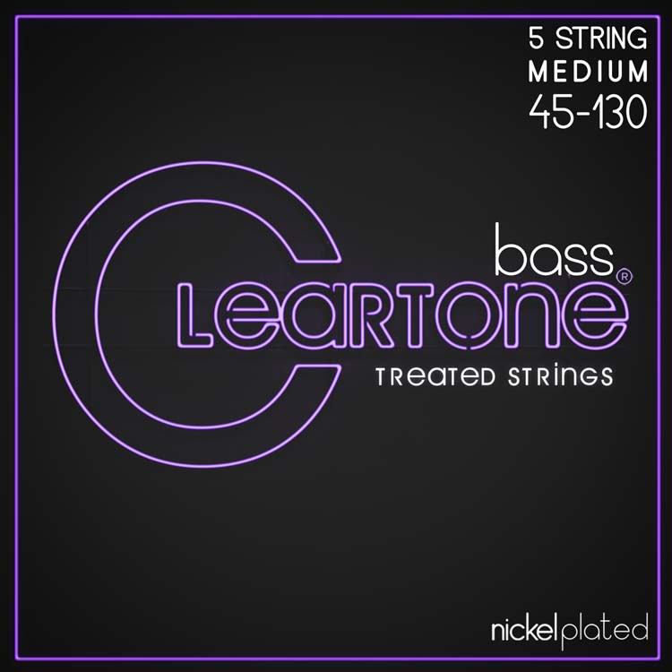 Cleartone Nickel-Plated Bass Strings, Light 45-130