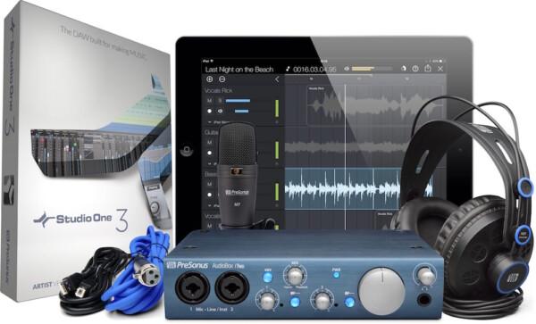 Presonus AudioBox iTwo Studio, HD7 Headphones, M7 Mic, S1 Artist