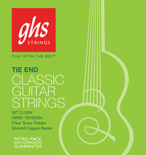 GHS Tie End Regular Classics, Silver, Hard Tension
